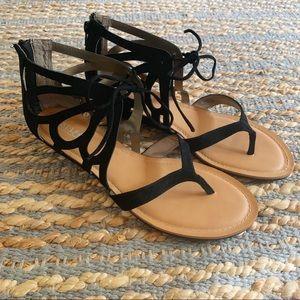 Black Carlos sandals size 9